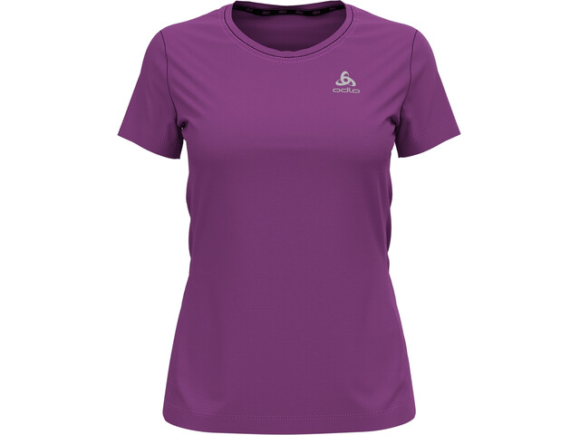 Odlo Element Light Print T-Shirt Manches Courtes Col Ras-Du-Cou Femme, hyacinth violet